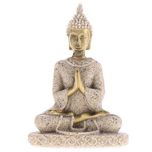 La Meditacion Tonalidad De La Piedra Arenisca Estatua De Buda Escultura Tallada A Mano Estatuilla # 3