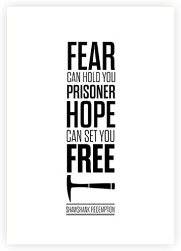 Amazon.com: LAB NO 4 Fear Can Hold You Prisoner - Shawshank ...