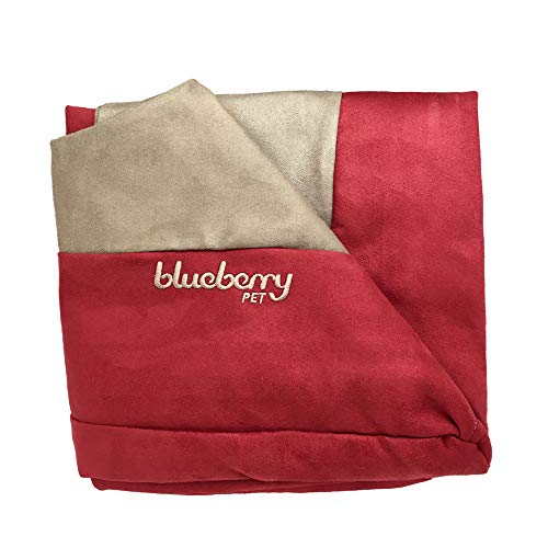 (Blueberry Pet Heavy Duty Microsuede Bed Cover Only, Removable & Washable Replacement Cover with YKK Zippers, for Cats & Dogs Bed 34