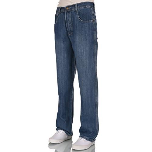 Men relaxed straight wide leg jeans 28-38 cheap - gilshaham.com