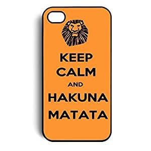 NANKY New Keep Calm and Hakuna Matata Hard Case Skin Cover for For HTC One M7 Phone Case Cover 5g 5s