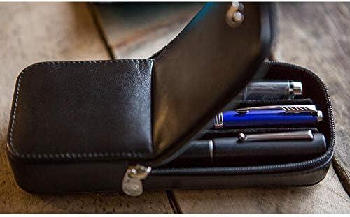 Estuche de carbono visconti Piel auténtica de 3 plazas dreamtouch Pen Made in Italy 3 Ranuras bolígrafos regalo: Amazon.es: Oficina y papelería
