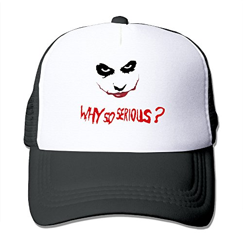 YOUTWO Adult The Joker Why So Serious Graphic TruckerHats Sport Outdoor Mesh Baseball Cap -