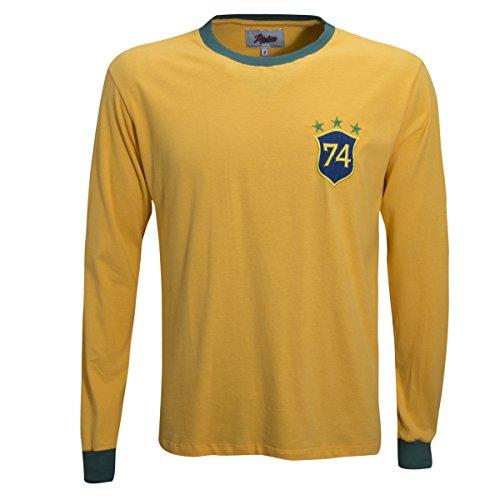 (Retro League Brazil 1974 Shirt (X-Large))