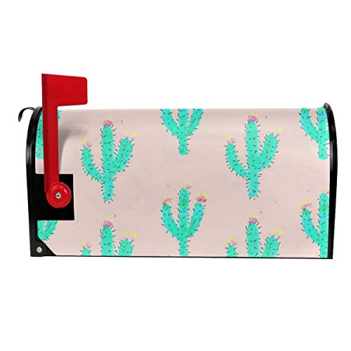 Standard Size Mailbox Covers for Home Drawn Cactus