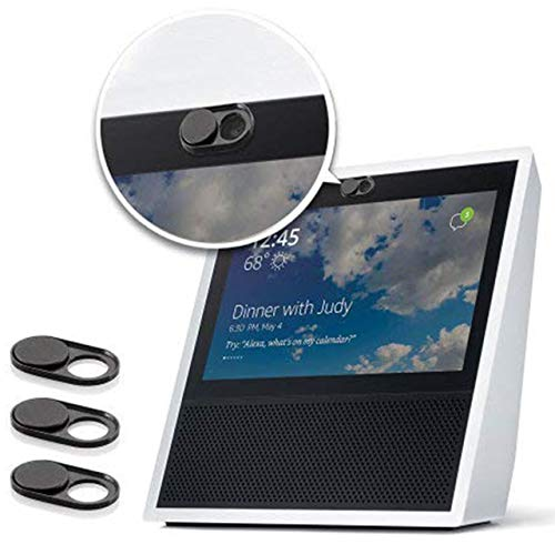 Olixar Echo Show Camera Cover (1st Gen)- Webcam Cover - Amazon Privacy Slide - Compatible with Laptop, Tablets & Smartphones Anti Hack - 3 Pack