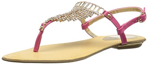 Luichiny Women's Cheer ish Dress Sandal, Fuchsia, 7 M (Luichiny Womens Dress Sandals)