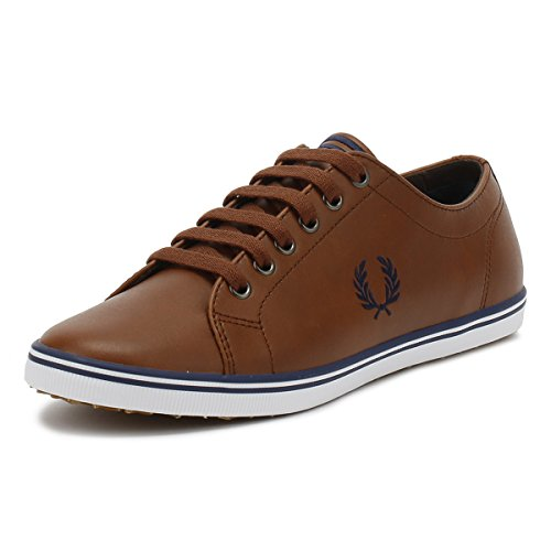 Kingston Brown Leather - Fred Perry Kingston Leather Sneaker, Tan, 7 D UK (8 US)
