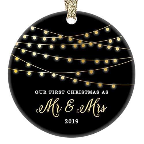 Christmas Ornament Wedding Gift: Amazon.com: Mr & Mrs First Christmas 2019 Ornament