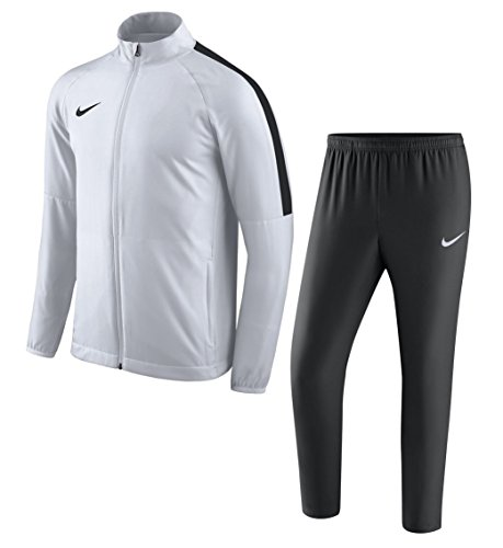 Nike Woven Suit - NIKE Academy 18 Woven Tracksuit Men's (White/Black, XXL)