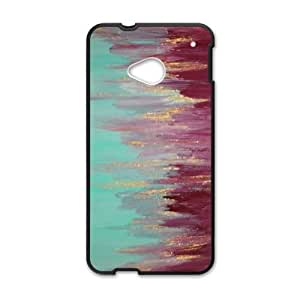 abstract Painting_005 TPU Case Cover for HTC One M7 Cell Phone Case Black