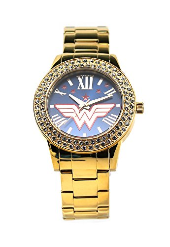 "Costume Wonder Woman Bvs (Wonder Woman ""Justice"" Gold-tone Watch)"