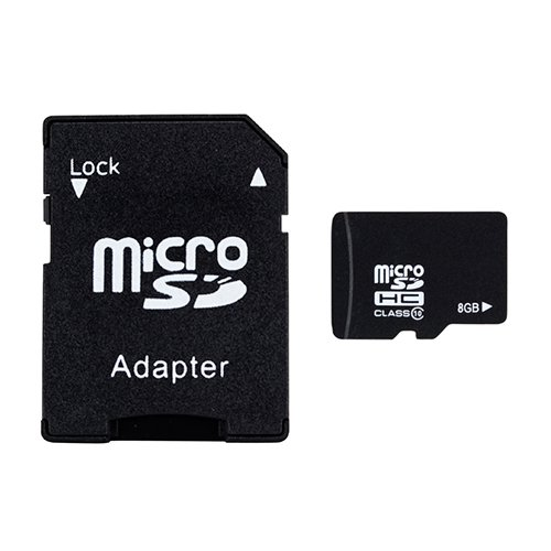 AbergBest Ultra 8 GB microSD Flash Media Kit with Card Adatper