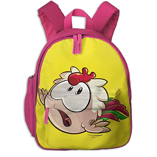 Large Capacity Kid's School Bag Chicken Puffle Portable Kindergarten Children's Daypack For Walking/Camping/vacation/Trainning/Office/Classroom