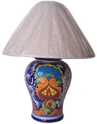 Multicolor Talavera Ceramic Lamp