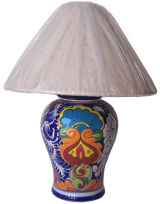 Superieur Multicolor Talavera Ceramic Lamp