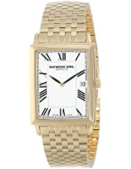Raymond Weil Mens 5456-P-00300 Tradition Gold-Plated Stainless Steel Bracelet Watch