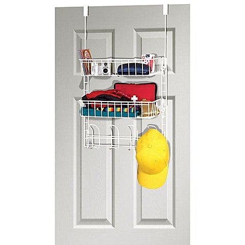 Grayline Over-the-Closet-Door Steel Organizer in White