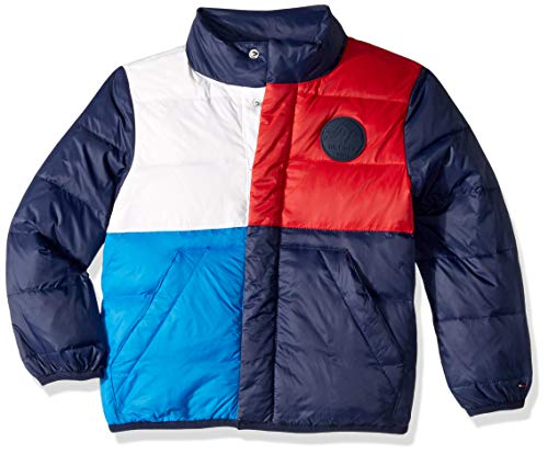 Tommy Hilfiger Boys' Adaptive Winter Jacket with Down Fill and Magnetic Buttons, peacoat MD ()