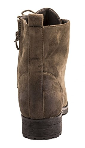 motero oscuro gris estilo botas Mujer Elara XgqExw7ZW