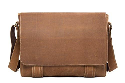 ROCKCOW - Bolso al hombro para hombre Marrón Vintage Brown