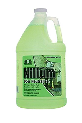 Nilodor 128 WSCM Nilium Odor Neutralizer, Cucumber Melon, 1 gal, 128 fl oz, 11.75'' Height, 6'' Width