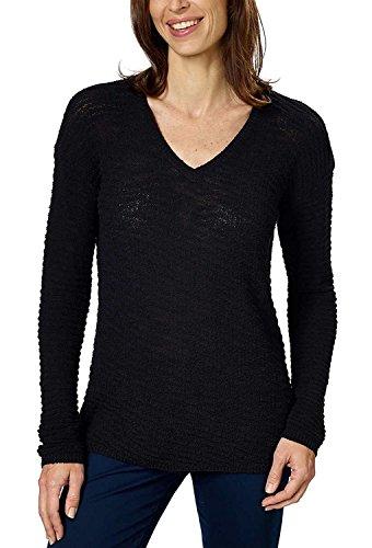 Calvin Klein Jeans Ladies' Textured Sweater (Black, Large) ()