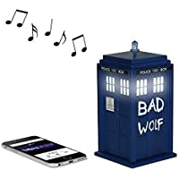 Doctor Who Bad Wolf TARDIS Wireless Bluetooth Speaker with LED's and Sound Effects