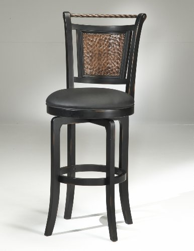 Hillsdale Norwood 26.5 Swivel Counter Bar Stool in Black