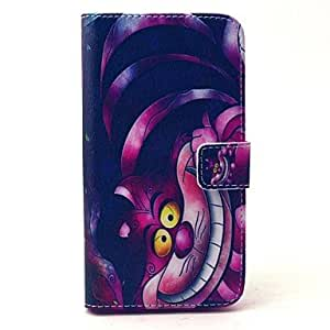ZX Retro Cat Cartoon Pattern PU Leather Full Body Case with Stand and Card Holder for Samsung Galaxy S6