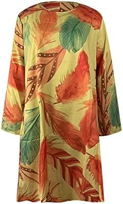 Y56 Vestido de Mujer Verano Mujer Rayado Largo Boho Vestido ...