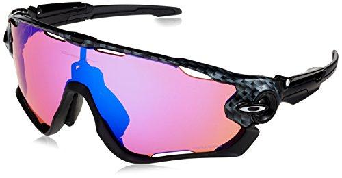 Oakley Men's Jawbreaker Non-Polarized Iridium Rectangular Sunglasses, CARBON FIBER, 31 ()