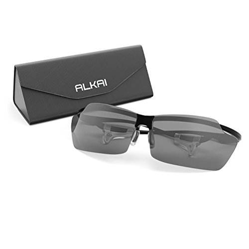 ALKAI Men's Helium Photochromic or Polarized Sports Sunglasses, 0.56 oz, Guaranteed Fit and Comfort, 100% UV Protection, Perfect for Fishing, Cycling, Running, Golfing, Driving, Rafting and More