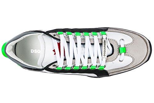 Scarpe Da Uomo Dsquared2 Scarpe Di Cuoio Delle Scarpe Da Tennis 551 Bianco Mens
