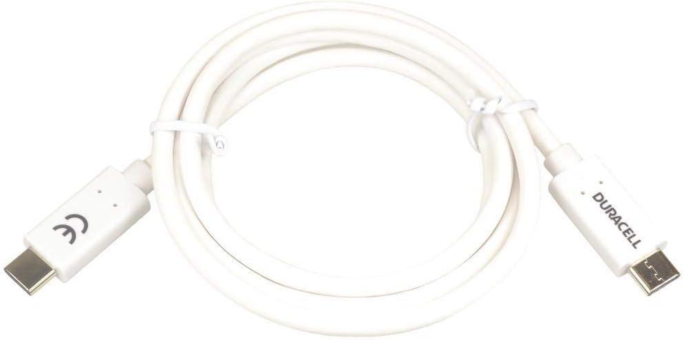 Duracell Usb Daten Und Ladekabel Usb C 3 0 1m Weiß Elektronik