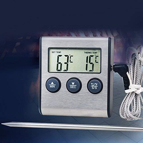 OurLeeme - Termómetro digital para horno y carne, temporizador ...