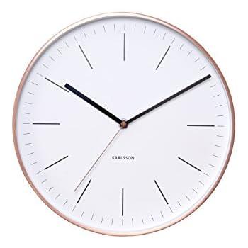 Amazon Com Karlsson Wall Clock Mr White Numbers Steel