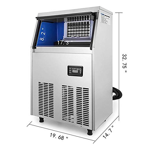VEVOR Commercial Ice Maker Sup Stainless Steel Portable ...