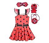 TT & Jessy Halloween Costumes Superhero Kids Miraculous Ladybug Halloween Costumes Superheroes for Girls