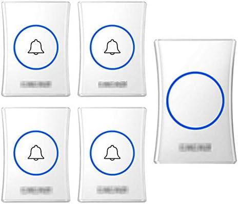 壁のプラグインコードレスドアチャイム、防水ドアベルキットのプラグ、1000フィートの範囲で最高のコードレスドアチャイム38チャイム4レベルボリューム(4つのプッシュボタンと1つのレシーバー),白