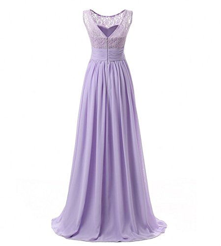 Dresses KA Evening Prom Long Women's Lace Chiffon Beauty champagnerfarben Dress qq6r8WgF
