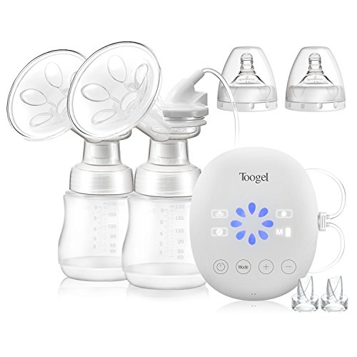 Electric Breast Pump Double/Single Rechargeable Breastfeeding Pump...