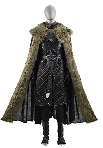 Jon Snow costume PU Armour Outfits Halloween Cosplay for Men (Medium, black) - Jon Snow Full Costume