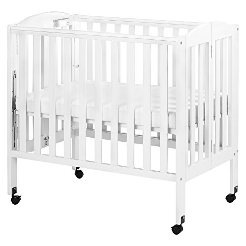 Dream On Me 3 in 1 Portable Folding Stationary Side Crib, White