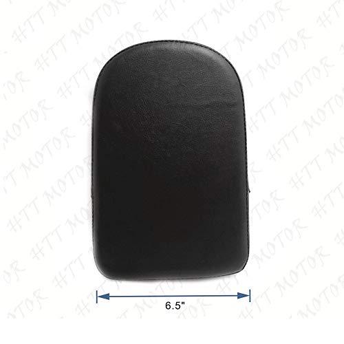 - Black Rectangular Backrest Sissy Bar Cushion Pad For Kawasaki Honda Suzuki Harley