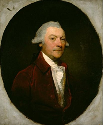 'Gilbert Stuart,Edward Parker Of Browsholme,about 1787' Oil Painting, 24x29 Inch / 61x74 Cm ,printed On Perfect Effect Canvas ,this Cheap But High Quality Art Decorative Art Decorative Canvas Prints Is Perfectly Suitalbe For Powder Room Decoration And Home Decor And