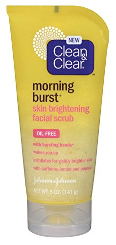 Clean & Clear Scrub Morning Burst Brightening Oil-Free 5 Ounce (145ml) (3 ()