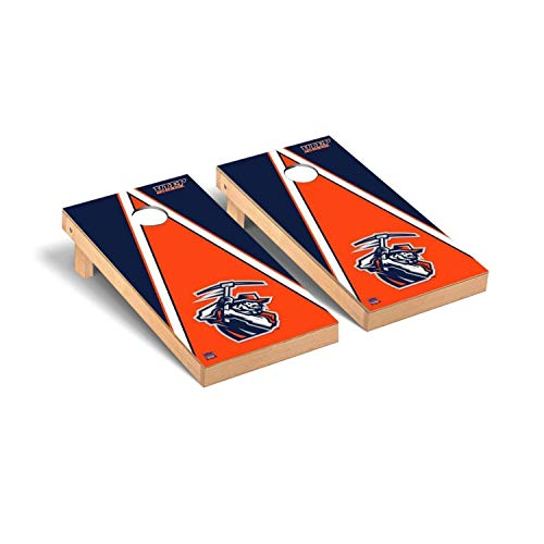 Victory Tailgate Regulation Collegiate NCAA Triangle Series Cornhole Board Set - 2 Boards, 8 Bags - Texas El Paso UTEP Miners (El Paso Board Game)