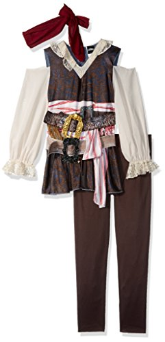 Disney POTC5 Captain Jack Sparrow Girl Classic Costume,  Multicolor,  Large (Pirate Of Caribbean Costume)
