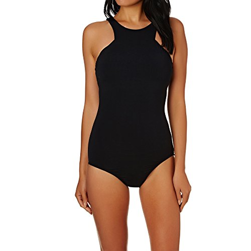 Seafolly Women's Active High Neck Maillot, Active Black, 12 US